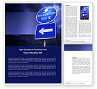 Nature & Environment: Evacuation Route Word Template #03908