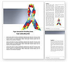 Religious/Spiritual: Autism Awareness Ribbon Word Template #03914