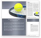 Sports: Tennis Ball Word Template #03918