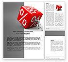 Business Concepts: Rising Percent Word Template #03922