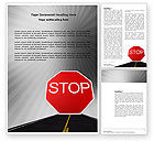 Cars/Transportation: Stop Sign Word Template #03928