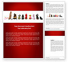 Careers/Industry: Lady's Shoes Word Template #03937