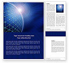 Abstract/Textures: Blue Sphere Word Template #03968