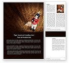 Sports: Little Baseball Player Word Template #03974
