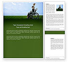 People: Handicapped Person Word Template #03985