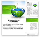 Nature & Environment: Blue Water Of A Green Planet Word Template #03986