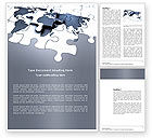 Global: Map Fragments Word Template #03989