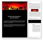 Nature & Environment: Savanna Sundown Word Template #04012