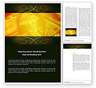 Financial/Accounting: Dollar In Yellow Word Template #04022