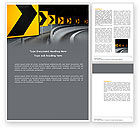 Construction: Road Reflector Word Template #04032