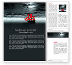 Art & Entertainment: Scarlet Sails Word Template #04038