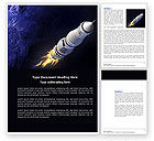 Technology, Science & Computers: Space Ship Word Template #04051