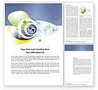 Telecommunication: Modelo do Word - rede de comunicação #04058