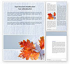 Nature & Environment: Late Autumn Word Template #04062