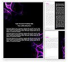 Abstract/Textures: Purple Flames Word Template #04070