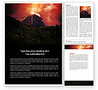 Nature & Environment: Eruption Word Template #04094