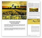 Nature & Environment: Modern Agriculture Word Template #04097