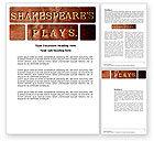 Education & Training: Shakespeare Word Template #04106