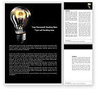 Business Concepts: Electric Light Word Template #04138