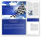 Flags/International: Homestretch Word Template #04142