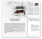 Nature & Environment: Snowdrift Word Template #04146