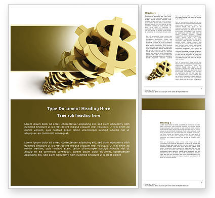 Financial/Accounting: Stack Of Dollar Word Template #04160