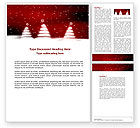 Holiday/Special Occasion: Fir Tree Theme Word Template #04165