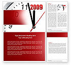 Holiday/Special Occasion: 2009 Almost Here Word Template #04177