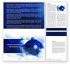 Holiday/Special Occasion: Christmas Decoration Ball Word Template #04190
