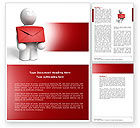 Careers/Industry: Email Delivery Word Template #04195