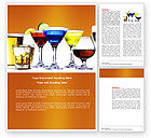 Food & Beverage: Strong Drinks Word Template #04199