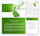 Nature & Environment: Green Car Word Template #04204