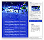 Holiday/Special Occasion: Free Happy Christmas Theme Word Template #04205