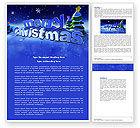 Holiday/Special Occasion: Glückliches weihnachtsthema Kostenlose Word Vorlage #04205