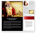 Holiday/Special Occasion: Free Santa Claus Word Template #04212