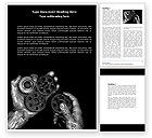 Utilities/Industrial: Mechanic Gears Word Template #04219