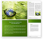 Nature & Environment: Water Drop Word Template #04223