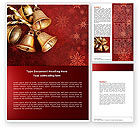 Holiday/Special Occasion: Christmas Bells Word Template #04233