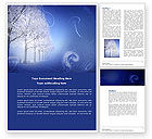 Nature & Environment: Snow-covered Alley Word Template #04234