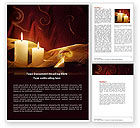 Religious/Spiritual: Candle Light Word Template #04239