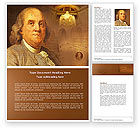 Education & Training: Benjamin Franklin Word Template #04247