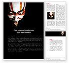 Art & Entertainment: Japanese Samurai Word Template #04260
