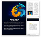 Financial/Accounting: Euro vs. Dollar Word Template #04268