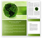 Global: Green Land Word Template #04269