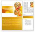 Holiday/Special Occasion: Gingerbread Man Word Template #04276
