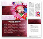 People: Free Winter Holiday Word Template #04277