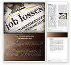 Careers/Industry: World Crisis Word Template #04282