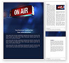 Careers/Industry: Live Broadcast Word Template #04285
