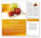 Medical: Balanced Nutrition Word Template #04289
