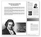 Education & Training: Beethoven Word Template #04301